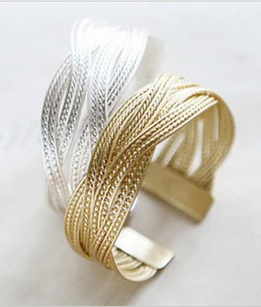 Knitted-twisted-bracelet