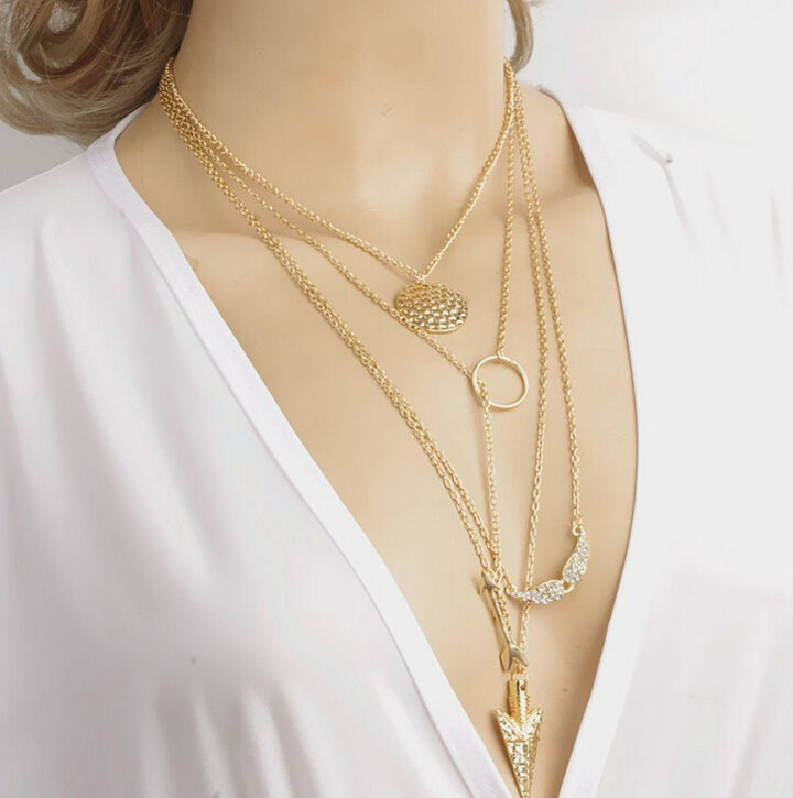 So many charms layered necklace