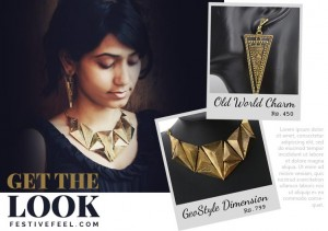 Earrings and Necklace for this charming vintage look